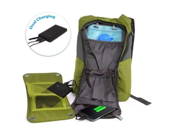 Ivation 7 W Solar Backpack
