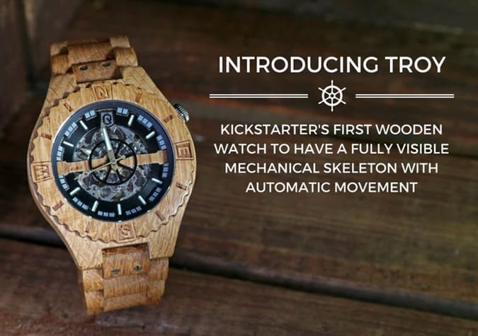 Troy Wood Watch Visible Skeleton