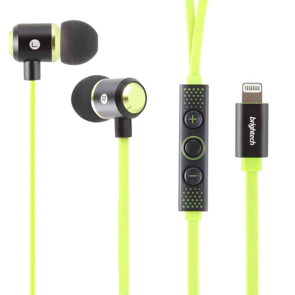 Brightech Apple MFI Approved Pure Lightning Earphones - Listen to Pure 24-bit Digital Audio - Wide Frequency Response - Compatible with all Apple MFi devices