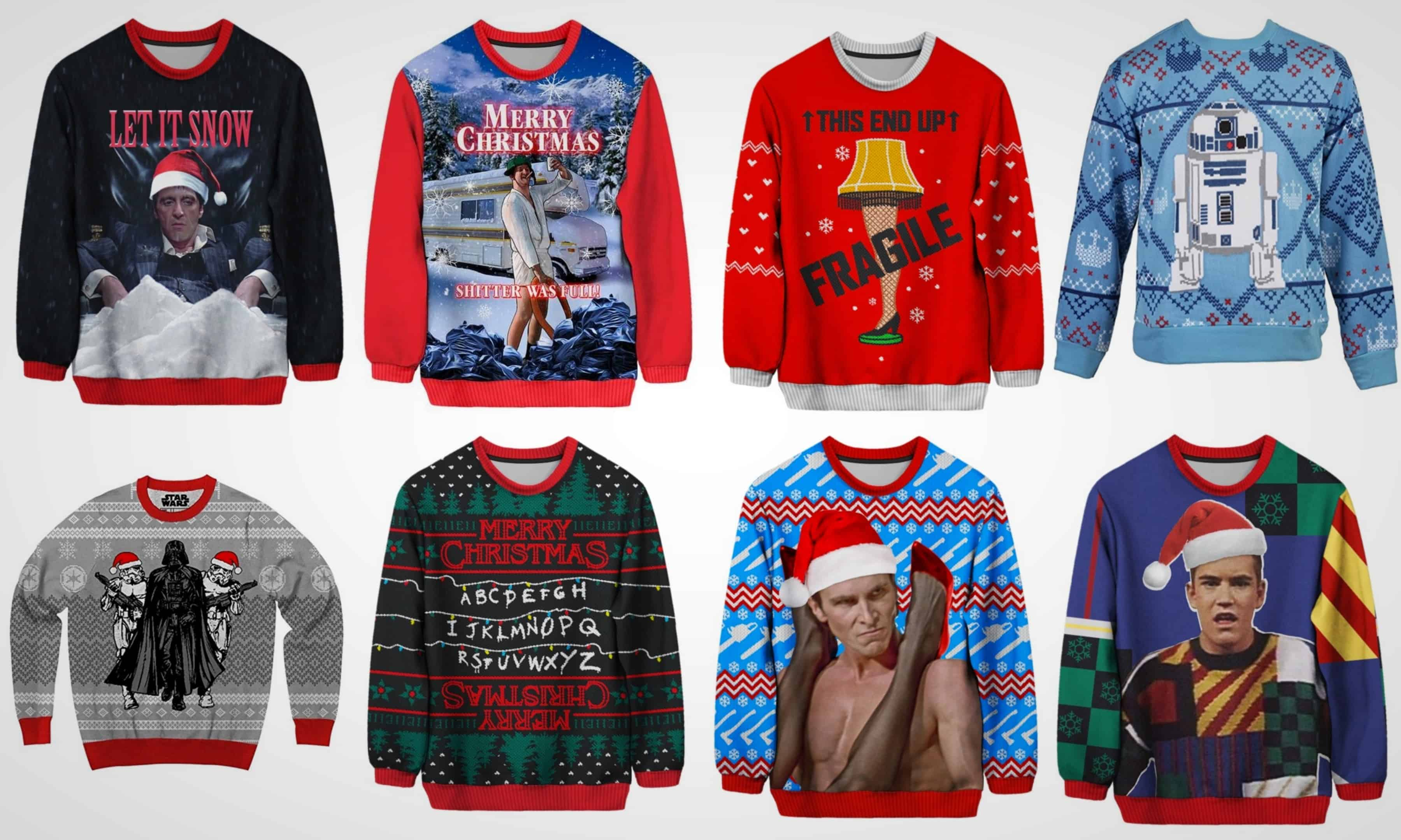 11 Ugly Christmas Sweaters For People Who Love TV And Movies
