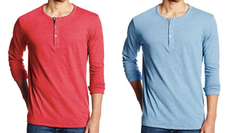 Mens Henley Long Sleeve Shirts