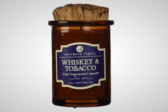 Whiskey tobacco candle