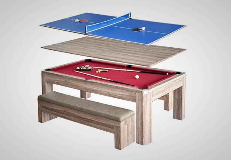 In Combination Billiards And Ping Pong Table Is Perfect For Home - Combination pool and ping pong table