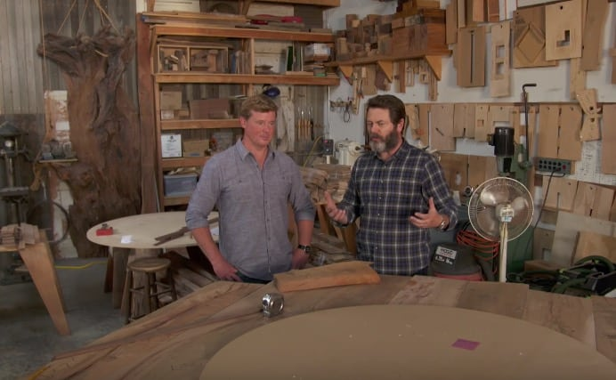 Nick Offerman Woodworking Shop