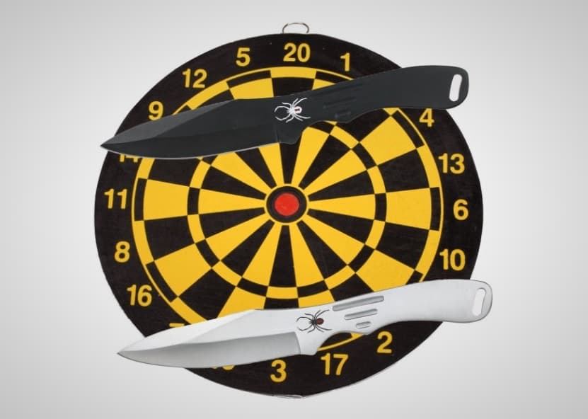 Throwing Knives Dart Board