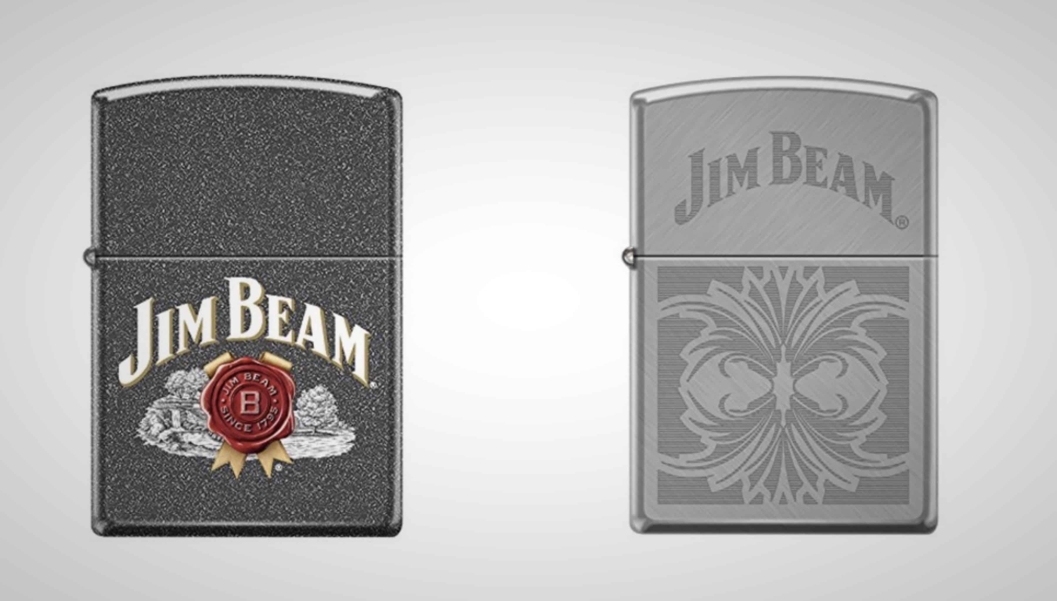 vintage Jim Beam Zippo Lighters