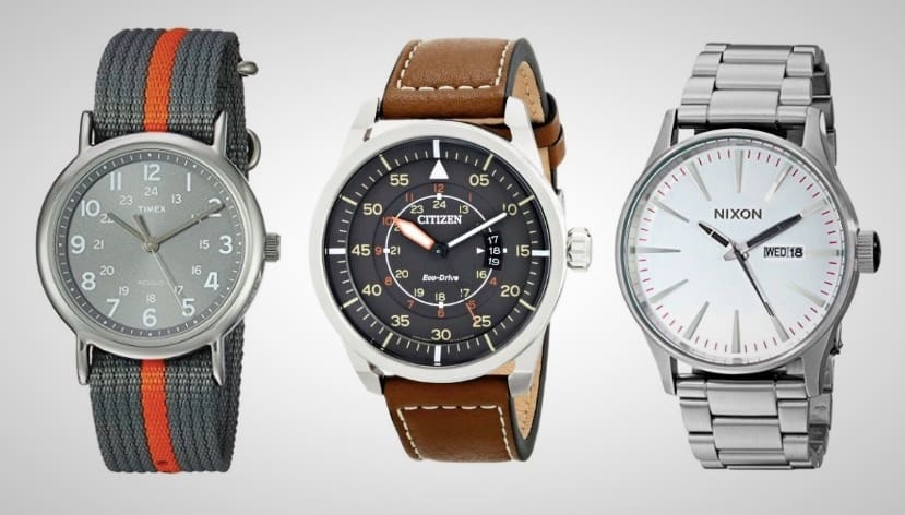 timex citizen nixon and fossil watches are up to 50 off today On watches deals