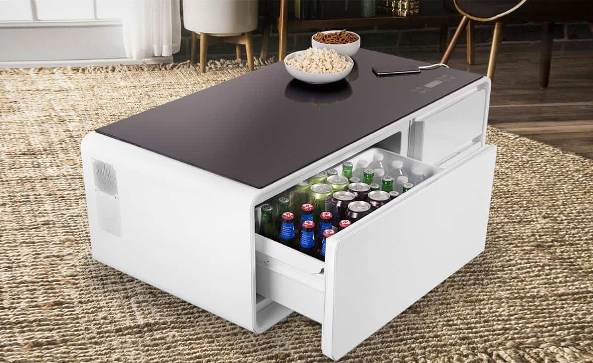 Sobro The Smart Coffee Table With A Built In Fridge And