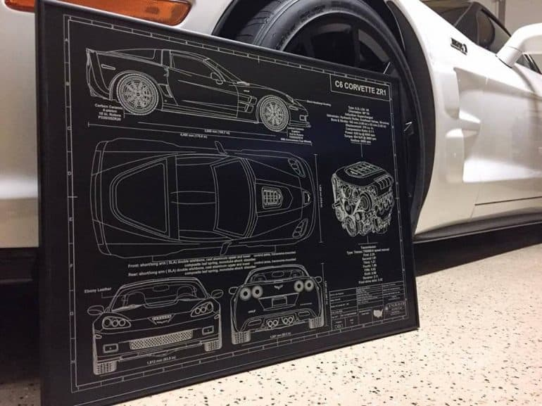 Turn your favorite car gun or plane blueprints into anodized turn your favorite car gun or plane blueprints into anodized aluminum art malvernweather Gallery