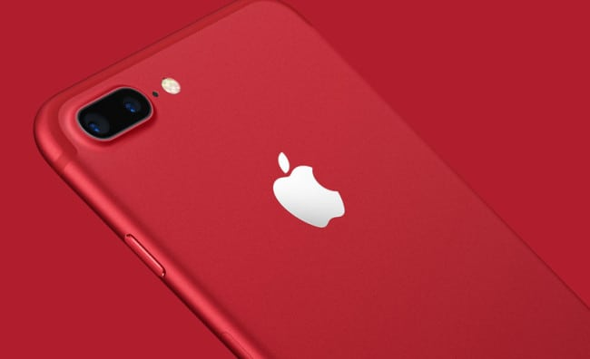 red iPhone 7