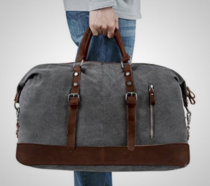 best luggage weekender canvas leather