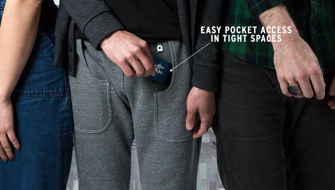sitting-pocket sweatpants