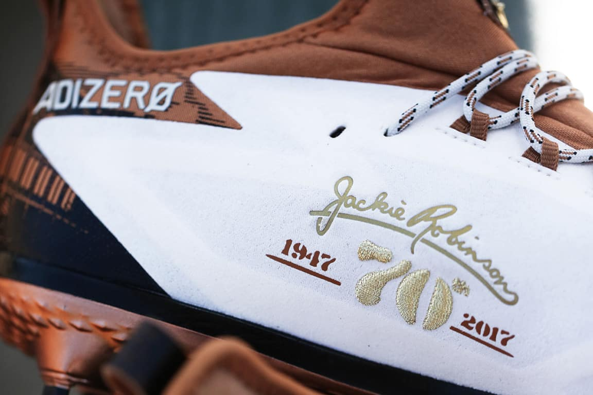 7a0d083863f2b Adidas Unveils Special Edition 70th Anniversary Jackie Robinson Cleats