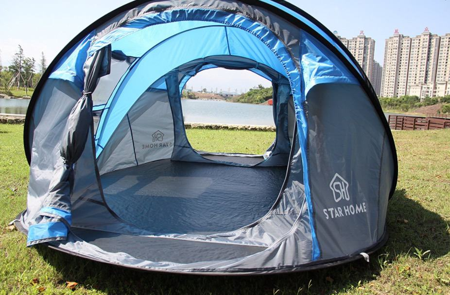 pop up tent c&ing beach music festivals & Set Up Your Shade And Shelter In Seconds With This 4-Person Pop-Up ...