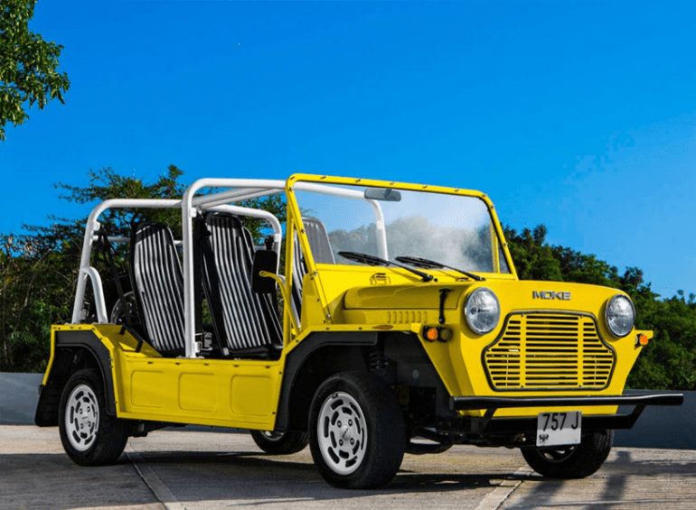 No Summer Spent At The Beach Should Be Without A Cool Ride Whether It Is Jeep Wrangler Red Ford Bronco Or This Moke Buggy