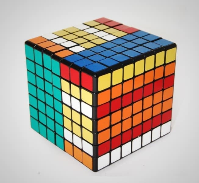 test your puzzle solving skills with this 7 x 7 rubik 39 s cube. Black Bedroom Furniture Sets. Home Design Ideas