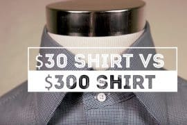 How to tell a $30 vs $300 dress shirt