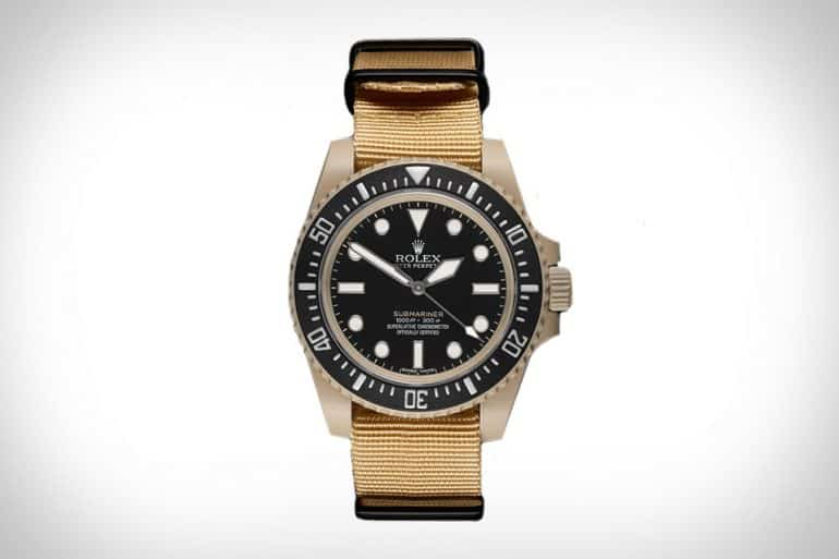 rolex desert tan submariner.