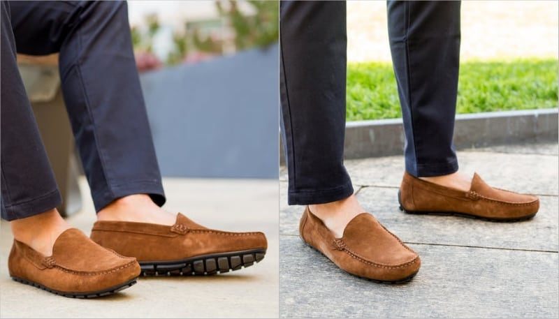 3c7e76d3d48 Wolf   Shepherd Waterproof Suede Driving Loafers Are Sure To Turn Heads