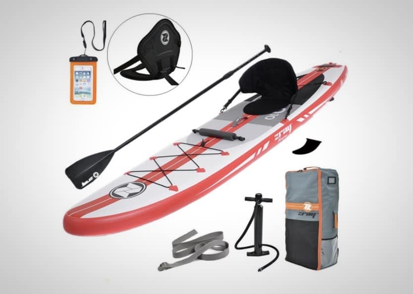 9 best inflatable paddle boards on the market for under 1000 for Inflatable fishing paddle board