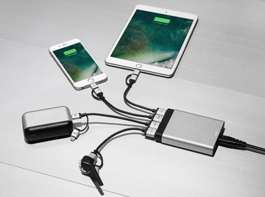 Ultra Slim 4-Port USB Rapid Charger