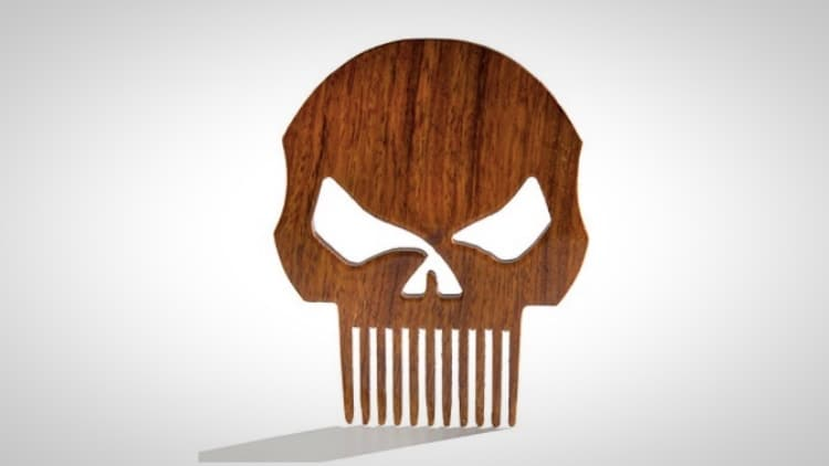 custom wooden beard combs