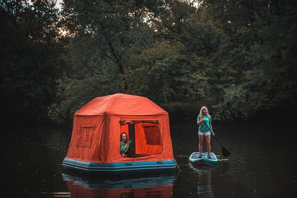Shoal Tent Smith Fly & Sleep On The Water With The Inflatable Shoal Tent From Smith Fly