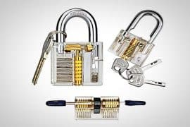 transparent lock pick set