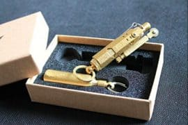brass trench lighter