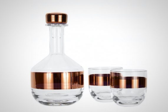 Tom Dixon Tank Whiskey Decanter and Glass Set