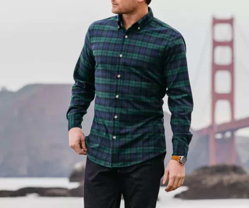 Durham Flannel Black Watch Plaid Mizzen Main