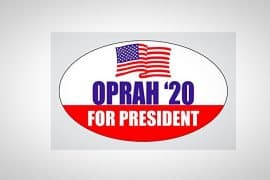 oprah for president bumper sticker