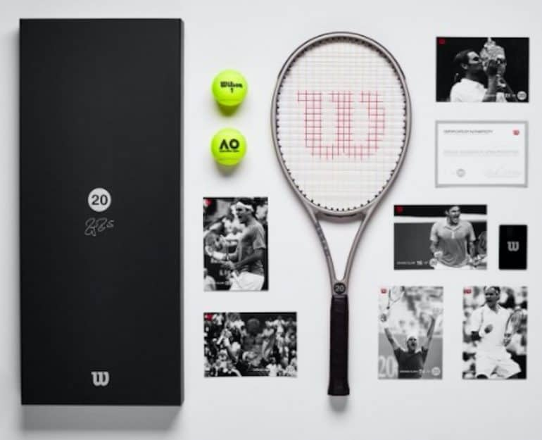 Roger Federer 20th Grand Slam Wilson Racket