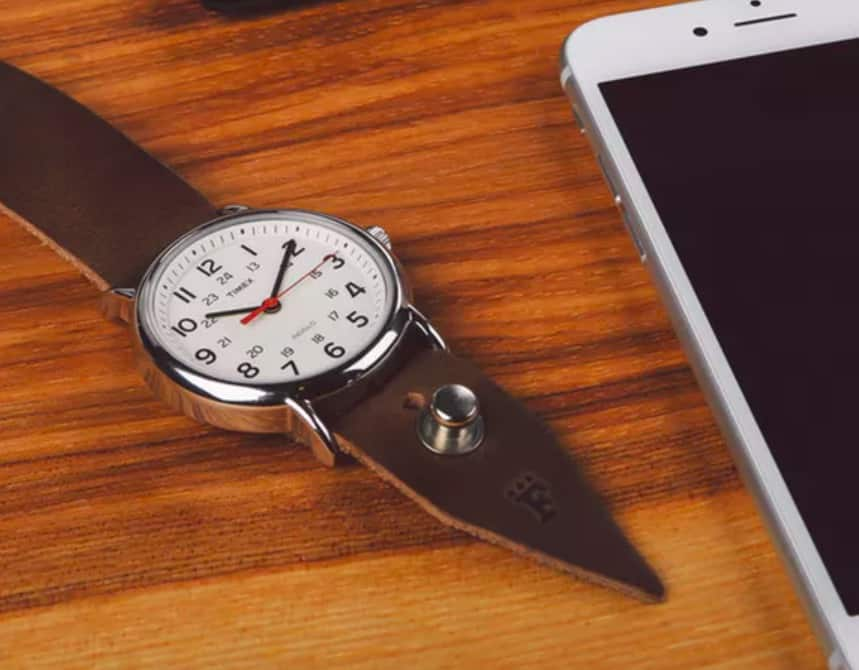 Timex Weekender Horween Leather Strap