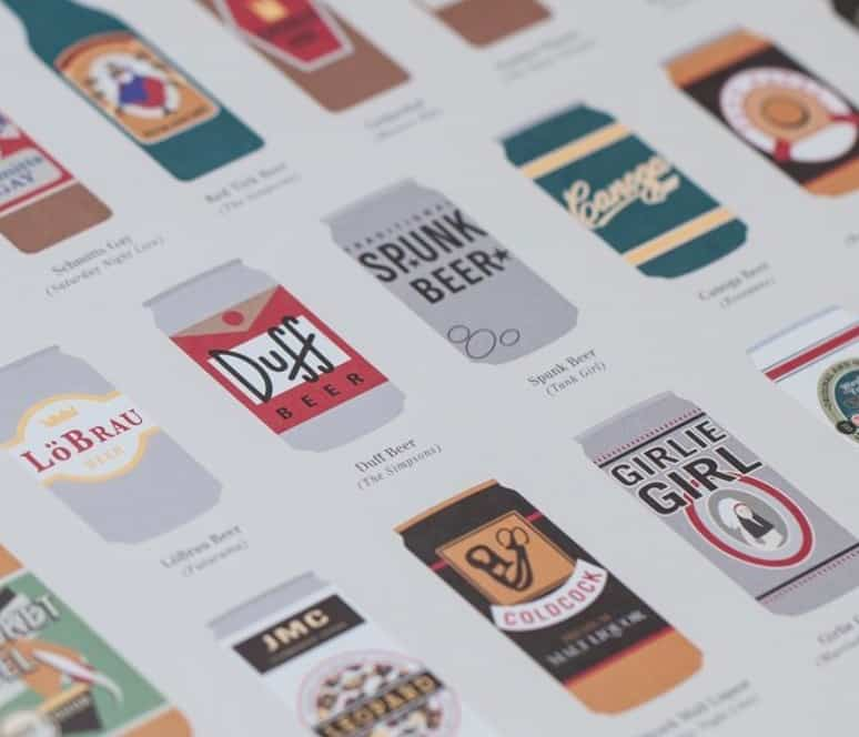 Fantastical Fictive Fictional Beers Poster