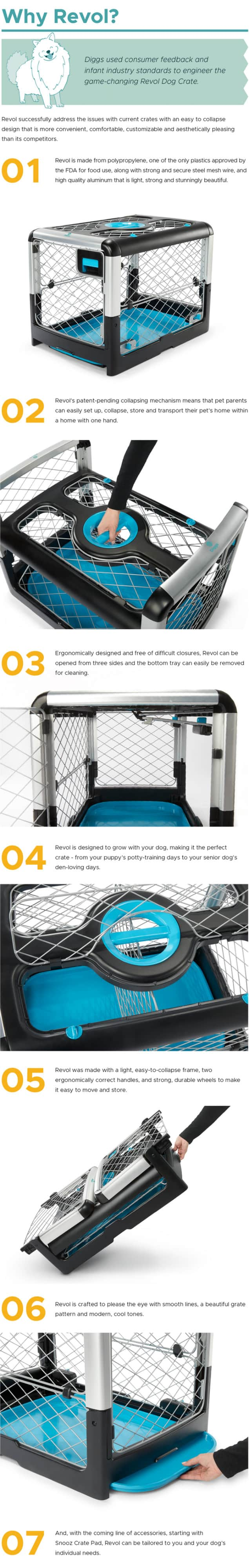Diggs Revol Dog Crate + Snooz Pad: A Dog Crate Revolution